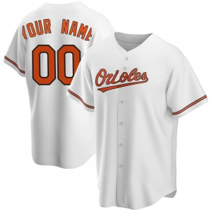 Youth Baltimore Orioles Custom Replica White Home Jersey