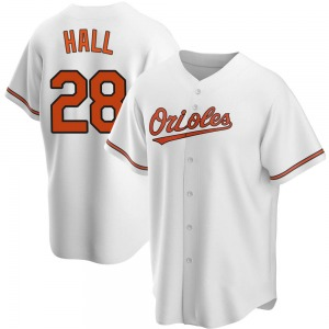 Youth Baltimore Orioles DL Hall Replica White Home Jersey
