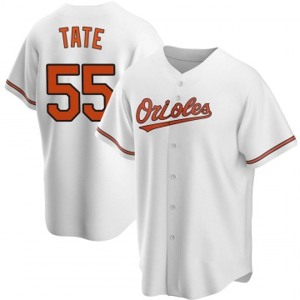 Youth Baltimore Orioles Dillon Tate Replica White Home Jersey