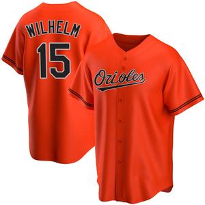 Youth Baltimore Orioles Hoyt Wilhelm Replica Orange Alternate Jersey