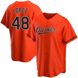 Youth Baltimore Orioles Jorge Lopez Replica Orange Alternate Jersey