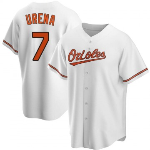 Youth Baltimore Orioles Richard Urena Replica White Home Jersey
