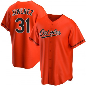Youth Baltimore Orioles Ubaldo Jimenez Replica Orange Alternate Jersey