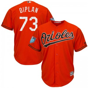 Men's Majestic Baltimore Orioles Marcos Diplan Replica Orange Cool Base 2018 Spring Training Jersey