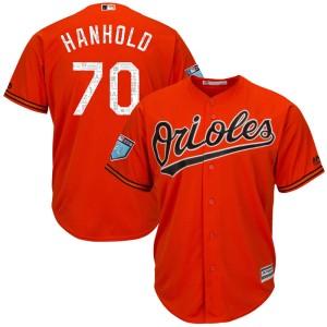 Men's Majestic Baltimore Orioles Eric Hanhold Replica Orange Cool Base 2018 Spring Training Jersey