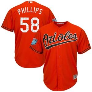Men's Majestic Baltimore Orioles Evan Phillips Replica Orange Cool Base 2018 Spring Training Jersey