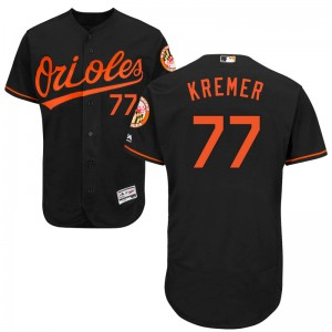 Youth Majestic Baltimore Orioles Dean Kremer Authentic Black Flex Base Alternate Collection Jersey