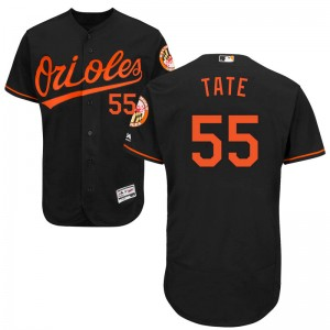 Youth Majestic Baltimore Orioles Dillon Tate Authentic Black Flex Base Alternate Collection Jersey