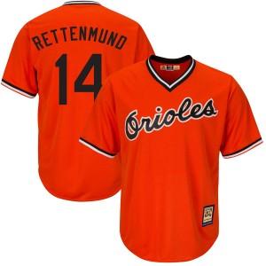 Youth Majestic Baltimore Orioles Merv Rettenmund Replica Orange Cool Base Alternate Jersey