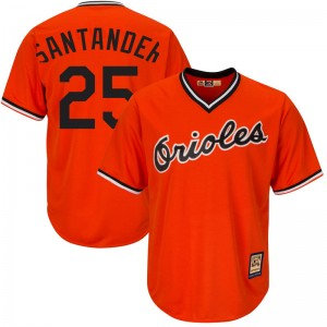 Youth Majestic Baltimore Orioles Anthony Santander Replica Orange Cool Base Alternate Jersey