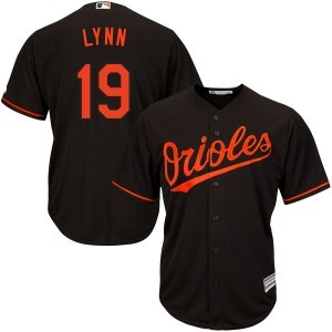 Youth Majestic Baltimore Orioles Fred Lynn Replica Black Cool Base Alternate Jersey
