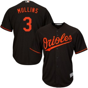 Youth Majestic Baltimore Orioles Cedric Mullins Replica Black Cool Base Alternate Jersey