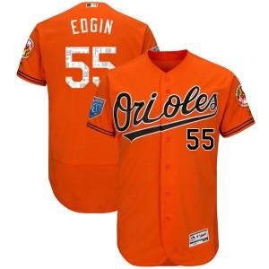 Youth Majestic Baltimore Orioles Josh Edgin Authentic Orange Flex Base 2018 Spring Training Jersey