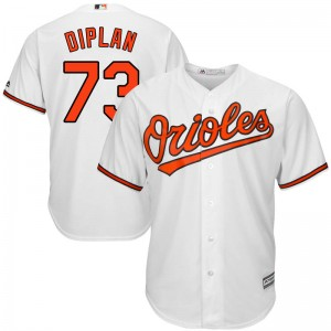 Men's Majestic Baltimore Orioles Marcos Diplan Replica White Cool Base Home Jersey