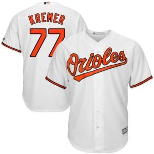Men's Majestic Baltimore Orioles Dean Kremer Replica White Cool Base Home Jersey
