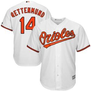 Men's Majestic Baltimore Orioles Merv Rettenmund Replica White Cool Base Home Jersey