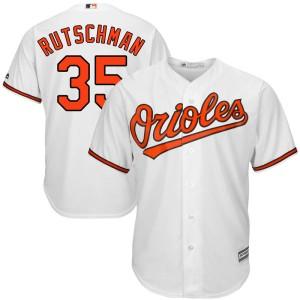 Men's Majestic Baltimore Orioles Adley Rutschman Replica White Cool Base Home Jersey