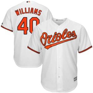 Men's Majestic Baltimore Orioles Mason Williams Replica White Cool Base Home Jersey