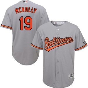 Youth Majestic Baltimore Orioles Dave Mcnally Authentic Grey Cool Base Road Jersey