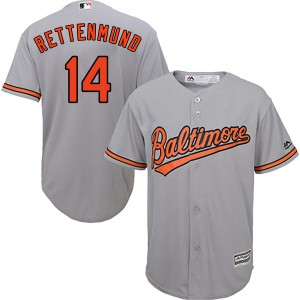 Youth Majestic Baltimore Orioles Merv Rettenmund Authentic Grey Cool Base Road Jersey