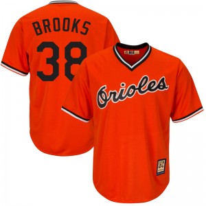 Men's Majestic Baltimore Orioles Aaron Brooks Replica Orange Cool Base Alternate Jersey