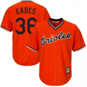 Men's Majestic Baltimore Orioles Ryan Eades Replica Orange Cool Base Alternate Jersey