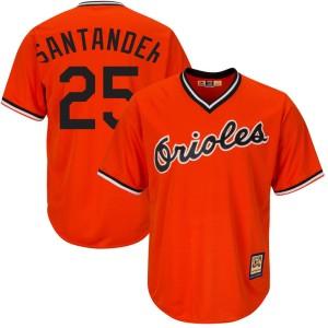 Men's Majestic Baltimore Orioles Anthony Santander Replica Orange Cool Base Alternate Jersey