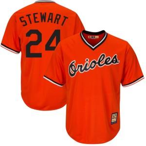 Men's Majestic Baltimore Orioles DJ Stewart Replica Orange Cool Base Alternate Jersey