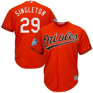 Youth Majestic Baltimore Orioles Ken Singleton Authentic Orange Cool Base 2018 Spring Training Jersey