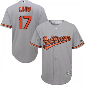 Men's Majestic Baltimore Orioles Alex Cobb Replica Grey Cool Base Road Jersey