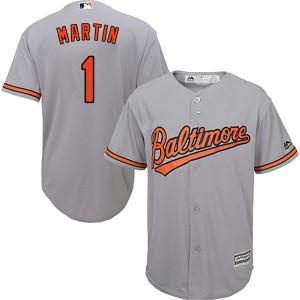 Men's Majestic Baltimore Orioles Richie Martin Replica Grey Cool Base Road Jersey