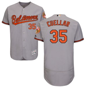 Men's Majestic Baltimore Orioles Mike Cuellar Authentic Gray Flex Base Road Collection Jersey