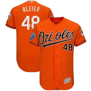 Men's Majestic Baltimore Orioles Richard Bleier Authentic Orange Flex Base 2018 Spring Training Jersey