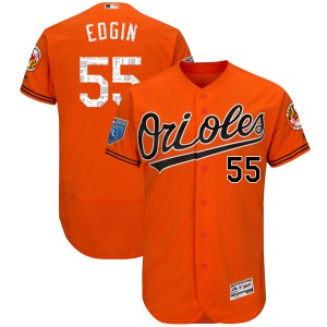 Men's Majestic Baltimore Orioles Josh Edgin Authentic Orange Flex Base 2018 Spring Training Jersey