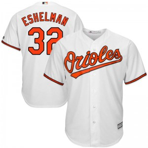 Youth Majestic Baltimore Orioles Thomas Eshelman Replica White Cool Base Home Jersey