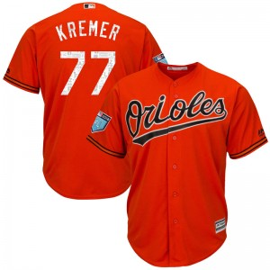 Youth Majestic Baltimore Orioles Dean Kremer Replica Orange Cool Base 2018 Spring Training Jersey