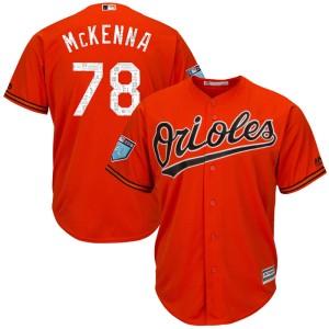 Youth Majestic Baltimore Orioles Ryan McKenna Replica Orange Cool Base 2018 Spring Training Jersey