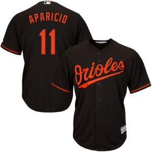 Men's Majestic Baltimore Orioles Luis Aparicio Replica Black Cool Base Alternate Jersey