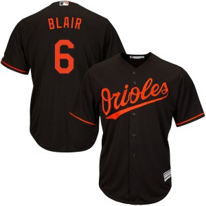 Men's Majestic Baltimore Orioles Paul Blair Replica Black Cool Base Alternate Jersey
