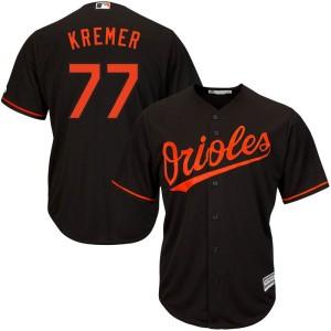 Men's Majestic Baltimore Orioles Dean Kremer Replica Black Cool Base Alternate Jersey