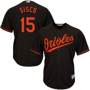 Youth Majestic Baltimore Orioles Chance Sisco Authentic Black Cool Base Alternate Jersey