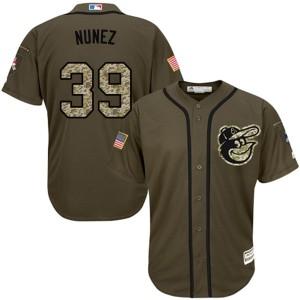 Men's Majestic Baltimore Orioles Renato Nunez Replica Green Salute to Service Jersey