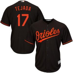 Men's Majestic Baltimore Orioles Ruben Tejada Authentic Black Cool Base Alternate Jersey