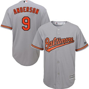 Youth Majestic Baltimore Orioles Brady Anderson Replica Grey Cool Base Road Jersey