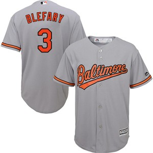 Youth Majestic Baltimore Orioles Curt Blefary Replica Grey Cool Base Road Jersey