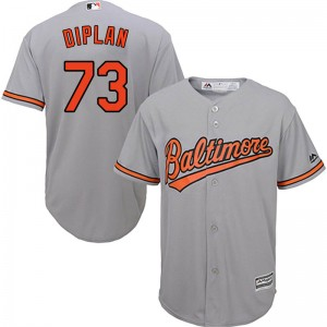 Youth Majestic Baltimore Orioles Marcos Diplan Replica Grey Cool Base Road Jersey