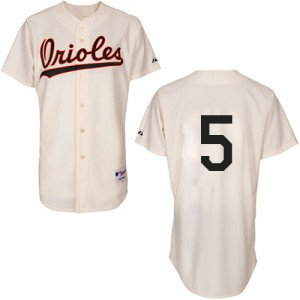 Men's Majestic Baltimore Orioles Brooks Robinson Authentic Cream 1954 Turn Back The Clock Jersey