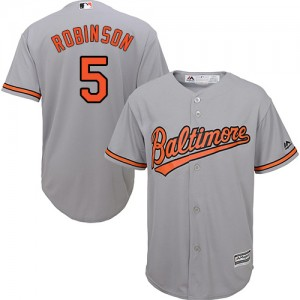 Men's Majestic Baltimore Orioles Brooks Robinson Authentic Grey Road Cool Base Jersey