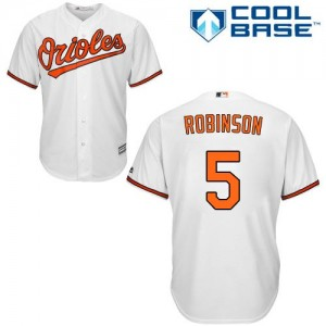 Men's Majestic Baltimore Orioles Brooks Robinson Authentic White Home Cool Base Jersey