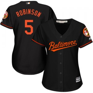 Women's Majestic Baltimore Orioles Brooks Robinson Authentic Black Alternate Cool Base Jersey